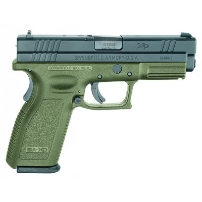 "Springfield Armory XD 9MM 4"" Barrel - OD Green Essentials Pack"