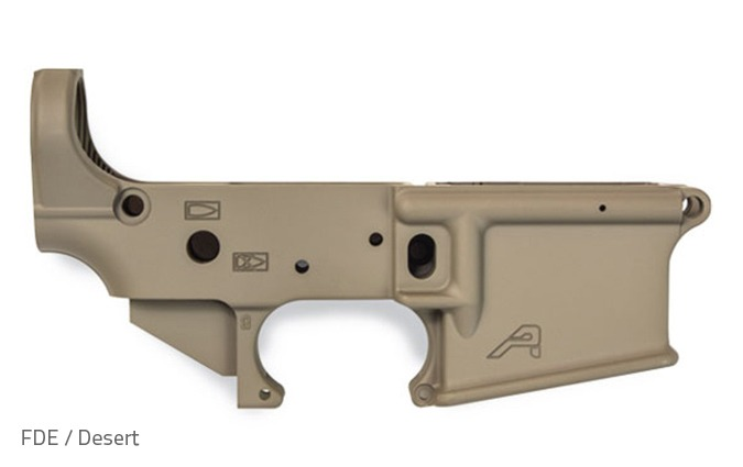 Aero Precision X15 Stripped Lower with Cerakote - FDE / Desert