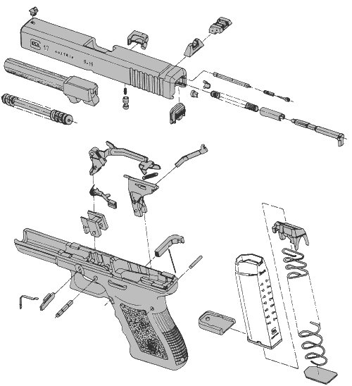 glock 19 - 10 round mags  pistol-d-19002-10